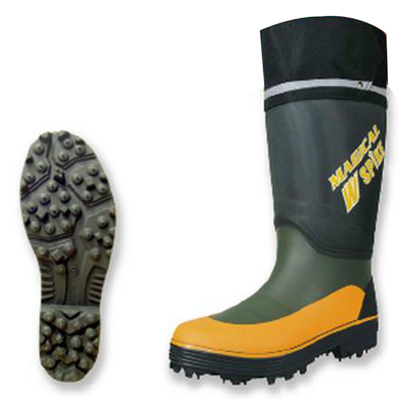 長靴 マジカルスパイク950 カーキ Mサイズ 24.5-25cm 反射素材 高機能 8911K 安全靴 北海道 沖縄 離島別途運賃 リプロ 代引不可