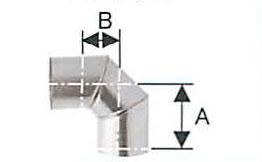 溶接シングル煙突 ステンレス スーパーエビ曲 90度 直径120 No.501113057 煙突 部材 ホンマ製作所 T野D