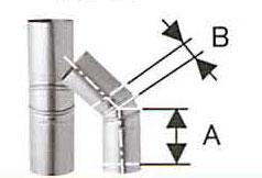溶接シングル煙突 ステンレス スーパー自在曲 45度 直径120 No.501113055 1963 煙突 部材 ホンマ製作所 T野D