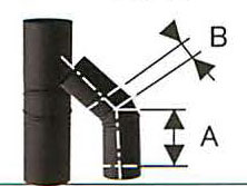 溶接シングル煙突 黒耐熱 ステンレス スーパー自在曲 45度 直径120 No.501113056 煙突 ステンレス 煙突 部材 45度 ホンマ製作所 T野D, JEWELRY LAND:3168dcc5 --- officewill.xsrv.jp