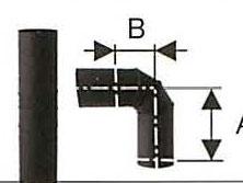 溶接シングル煙突 No.501113054 黒耐熱 ステンレス ステンレス スーパー自在曲 90度 直径120 No.501113054 直径120 煙突 部材 ホンマ製作所 T野D, バイクパーツバッテリー販売のRISE:6da3666f --- officewill.xsrv.jp