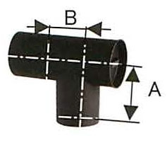 溶接シングル煙突 黒耐熱 ステンレス スーパーT曲 直径120 No.14052 煙突 部材 ホンマ製作所 T野D