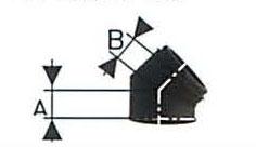 溶接煙突 黒耐熱 断熱材入り 二重断熱曲45度 直径120x175 No.501113042 1833 煙突 部材 ホンマ製作所 T野D