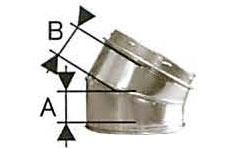 溶接煙突 断熱材入り 二重 曲30度 直径150 No.501113077 煙突 部材 ホンマ製作所 T野D
