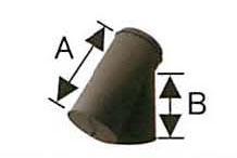 溶接煙突 断熱材入り 黒耐熱 二重 T曲 135度 直径120-175 No.501113048 煙突 部材 ホンマ製作所 T野D