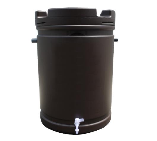 【代引不可】【個人宅配送不可】【北海道配送不可】 雨水タンク 185L 茶 安全興業