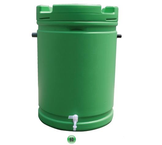 【代引不可】【個人宅配送不可】【北海道配送不可】 雨水タンク 185L 緑 安全興業
