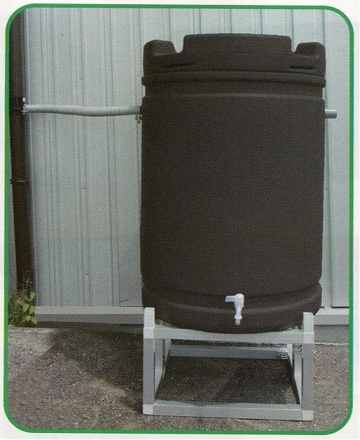 【代引不可】【個人宅配送不可】【北海道配送不可】 雨水タンク +アルミ台セット 185L 茶 安全興業