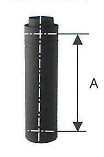 薪ストーブ用煙突 ハゼ折 黒耐熱 二重 ステンレス 直筒 直径106 No.12770 1119 煙突 部材 ホンマ製作所 T野D