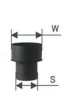 黒耐熱 二重 ステンレス W/Sアダプター 結露防止アダプター 直径150 No.x0247 煙突 部材 ホンマ製作所 T野D