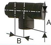 ハゼ折 黒耐熱二重ステンレス T曲 直径150 No.12783 煙突 部材 ホンマ製作所 T野D