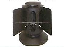 在庫限り 薪ストーブ用煙突 ハゼ折 黒耐熱 ステンレス ウェザートップ 贈与 直径106 No.X0303 3189 煙突 部材 ホンマ製作所 T野D