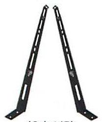 2本1組のスライド支え脚 黒耐熱 ステンレス スライド 支え脚 600~980mm用 部材 ブランド品 T野D 9066 煙突 No.15005 ホンマ製作所 激安通販