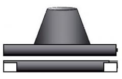 黒 ステンレス 角煙道用 フラッシング 直径200mm用 No.X0261 煙突 部材 ホンマ製作所 T野D T野 D