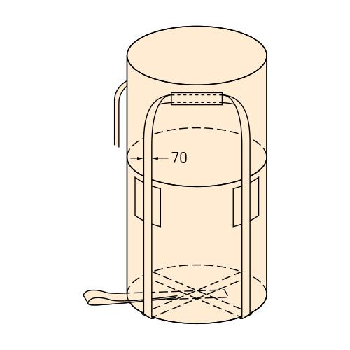 【代引不可】コンドーテック コンテナバッグ 丸型 KR-2-ST 10枚入 【1トンバッグ フレコンバッグ】