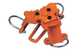 スリーエッチ 三脚ヘッド VK-20 2トン用 丸木 鉄パイプ(最小70mm~最大90mm) 用 チェーン ブロック を掛ける 三脚 の ヘッドに