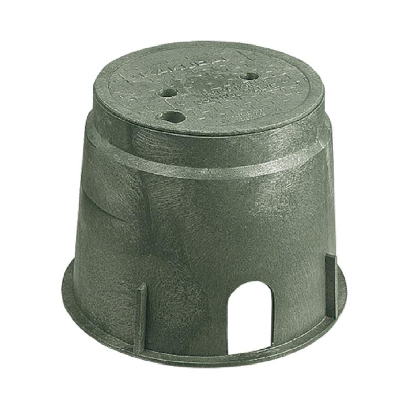 電磁弁ボックス(丸型) 504-011 潅水・制御 水栓 住宅設備 水廻り 金具 カクダイ KAKUDAI 吉KD