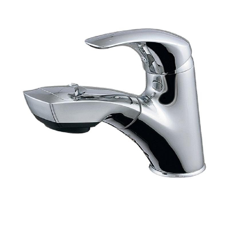 シングルレバー引出し混合栓 184-002 洗面・手洗関連 水栓 住宅設備 水廻り 金具 カクダイ KAKUDAI 吉KD
