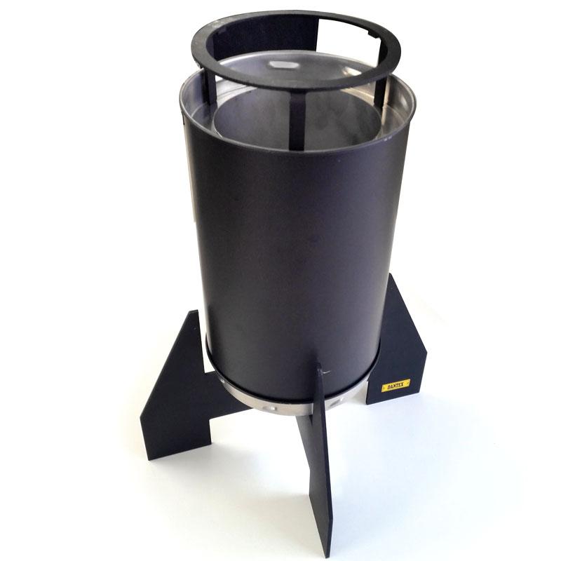 エコ楽ロケット ジャンボ SUS430 PC 特性ケース付 コンロ ロケット ストーブ バーベキュー キャンプ 災害対策 焚火缶 簡単組立アミD