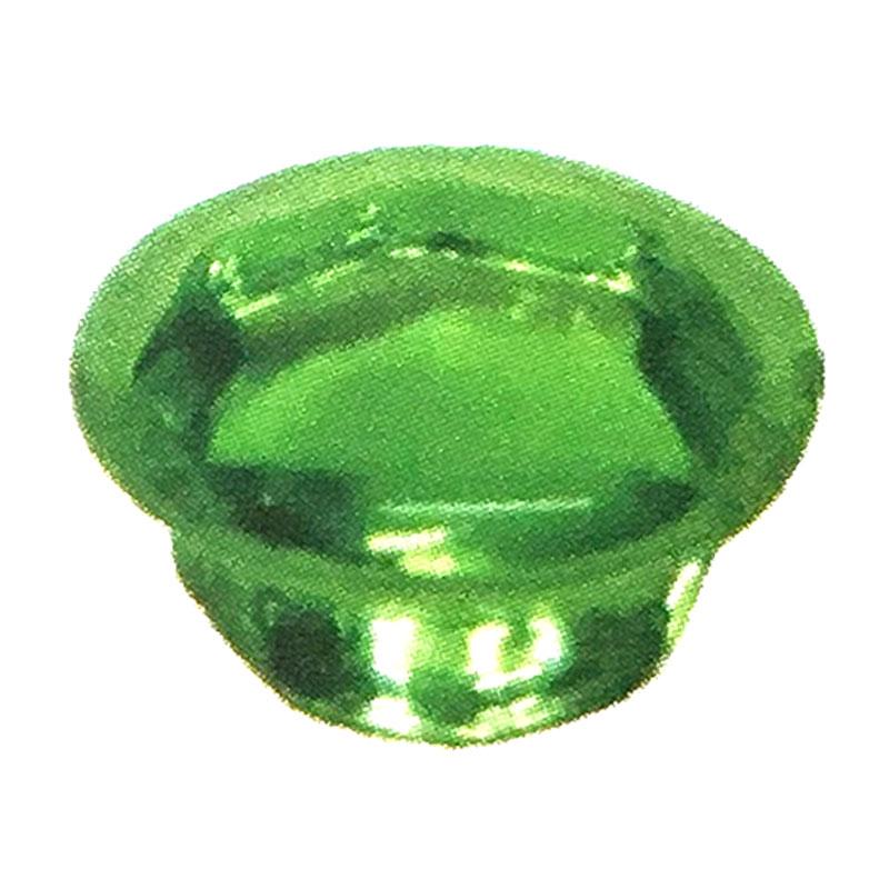 【600個入/1ケース】 ビスキャップ クリスタル ガラス グリーン プラ8号箱 ビス穴隠し ダンドリビス アミD