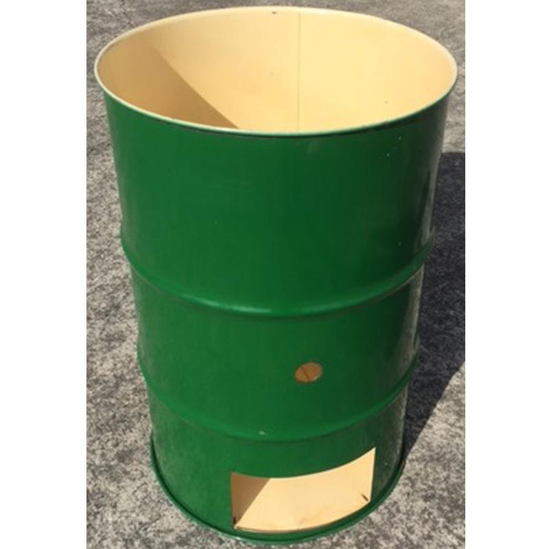 【代引不可】【受注生産】【塗装無】 緑 ドラム缶焼却炉 オープンドラム 200L 焼却炉 (部品入り) ミY
