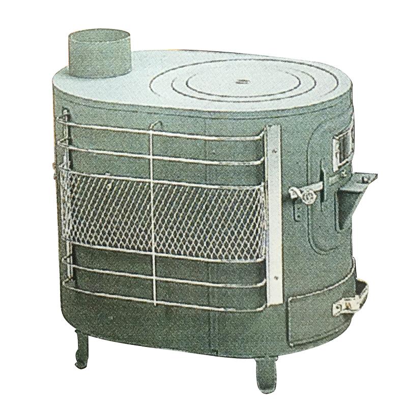 薪 ストーブ ファインヒーター A型 煙突直径106cm 安全ガード付 アミD