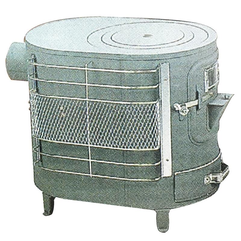 薪 ストーブ ファインヒーター B型 煙突直径106cm 安全ガード付 アミD
