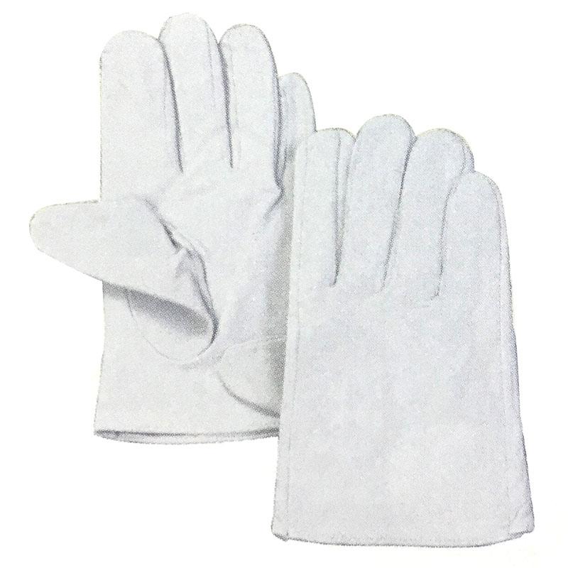 【120双】 牛革クレスト 手袋 作業用 革 皮 工場 現場 熱T 【代引不可】
