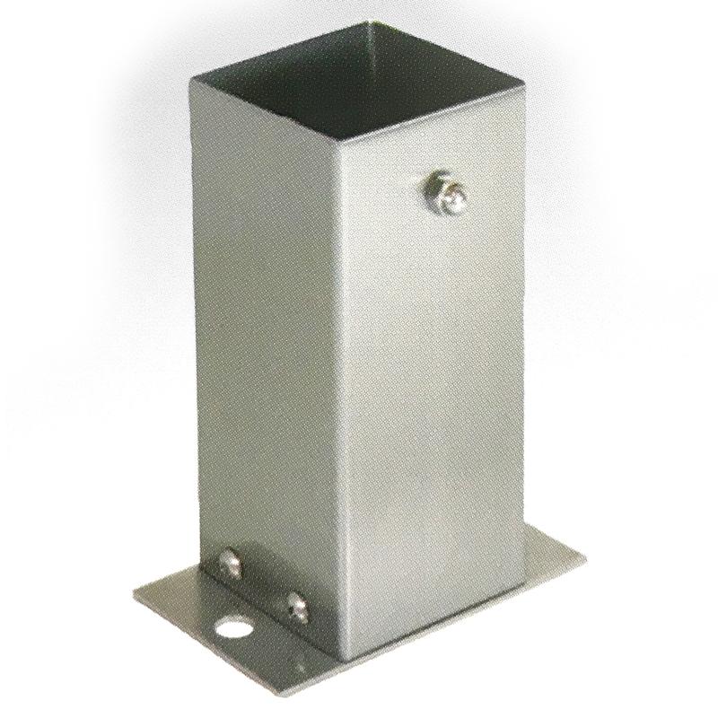 【6個セット】 装飾 柱脚 金物 90角 SB090 ストレート ステンレス製 西潟 アミD