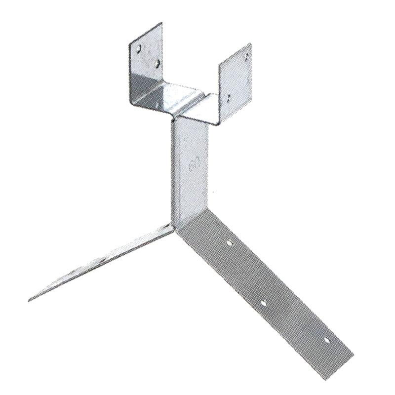 【100個入】 S-348 強力棟金具 亜鉛板 70mm 0410300 屋根 金具 大棟 瓦 スワロー 代引不可