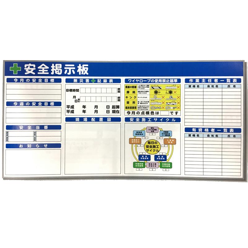 【代引不可】【個人宅配送不可】システム 掲示板 SK-04 4連 1800 x 3600 mm 現場 工事 建築 土木 連絡 ボード 安全 看板 安Z
