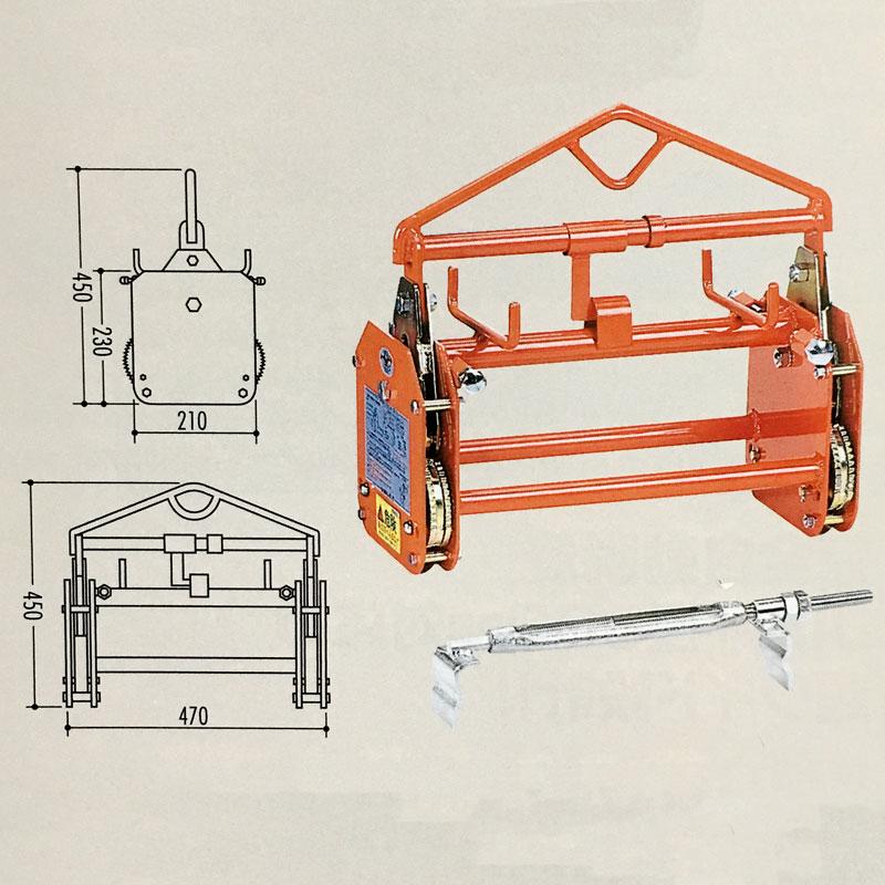 【代引不可】内吊り BOX-S JIS規格 U字溝 コンクリート 用 クランプ 吊具 SANKYO コT