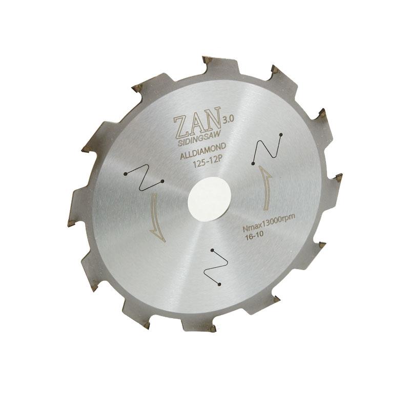 【代引不可】【刃のみ】 ZAN 125-12P ダイヤモンド チップソー 窯業 サイディングカッター 斬3.0 切断 オズワーク