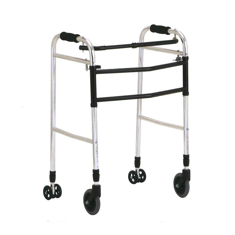 歩行器 アルミ製 交互 固定 兼用 歩行器 ウォーカー AL-102L 折り畳み クリスケアー キャスター グリップ 歩行補助 リハビリ クリスタル産業 代引不可