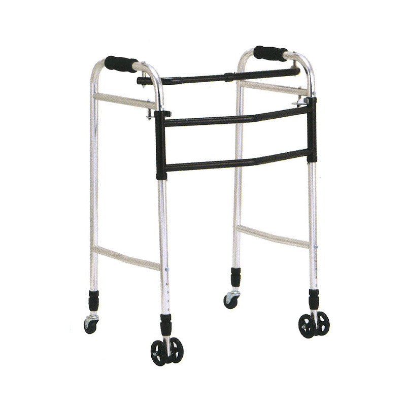 歩行器 アルミ製 交互 固定 兼用 歩行器 ウォーカー AL-116L 折り畳み クリスケアー キャスター グリップ 歩行補助 リハビリ クリスタル産業 代引不可