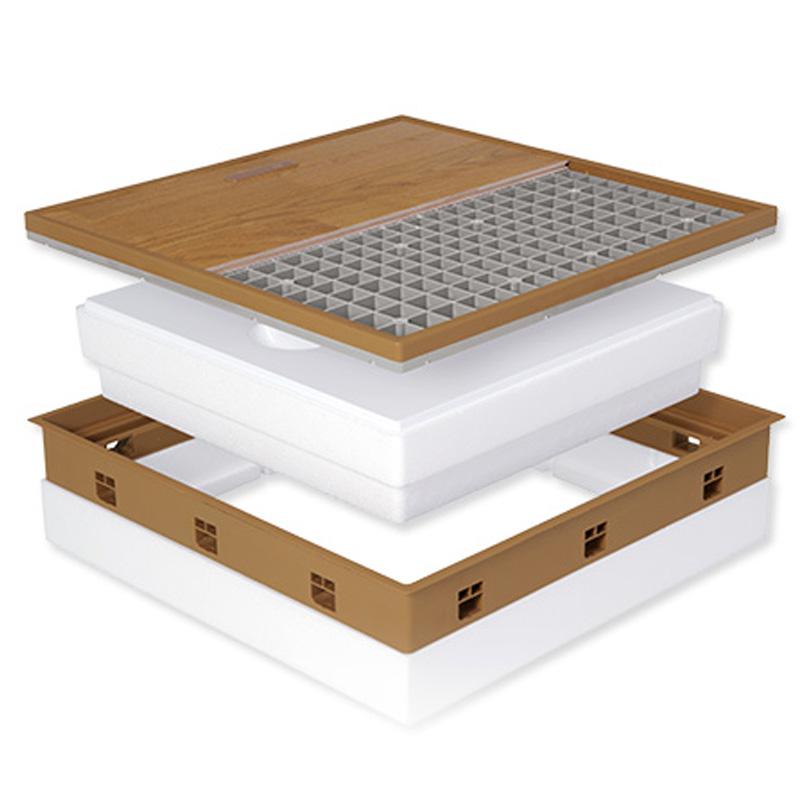 【配送条件あり】高気密型 床下点検口 (高断熱型600×600)フローリング合わせタイプ 板厚12mm専用 SPF-R60F12-BL2-IV 城東テクノ アミ【代不】