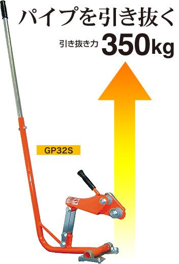 【代引不可】パイプ 抜き器 ぬい太郎 GP32S サA