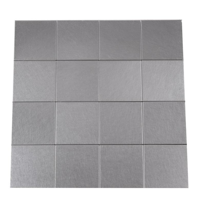 壁材 パネル化粧材 ビルバオリフレクション バイブレーション 5枚入 BLRS‐VR 300x300x8 ステンレスタイル 磁器質 DIY マテリアルワールド 代引不可