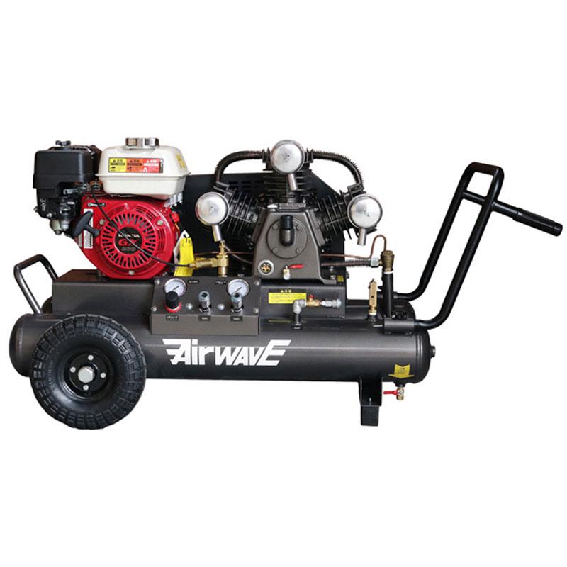 エンジン式 エアーコンプレッサー32L GM-32ESW 96kg リフト必須 2輪 タンク18Lx2 和C 代引不可 個人宅配送不可