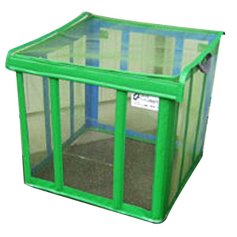 ゴミ枠ステーション グリーン GS-G-650 90x90x80 約650L カラス対策 折って畳んでコンパクト アイベックス 共B 代引不可 個人宅配送不可