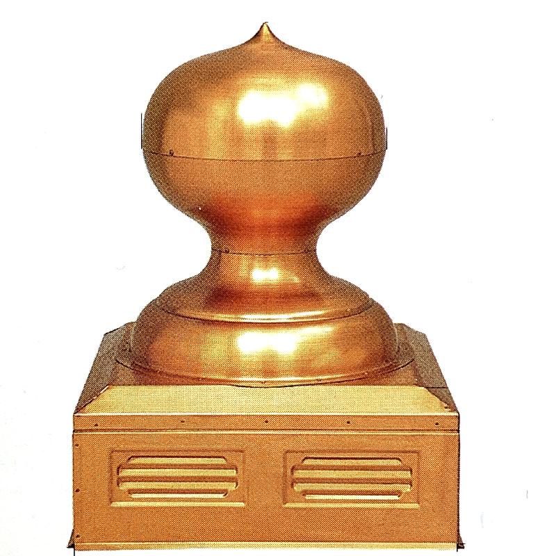 屋根装飾材 宝珠 露盤付き 5寸 銅色 板厚0.8mm 屋根 飾り 神社 お寺 仏閣 補修 護国 アミ 代引不可