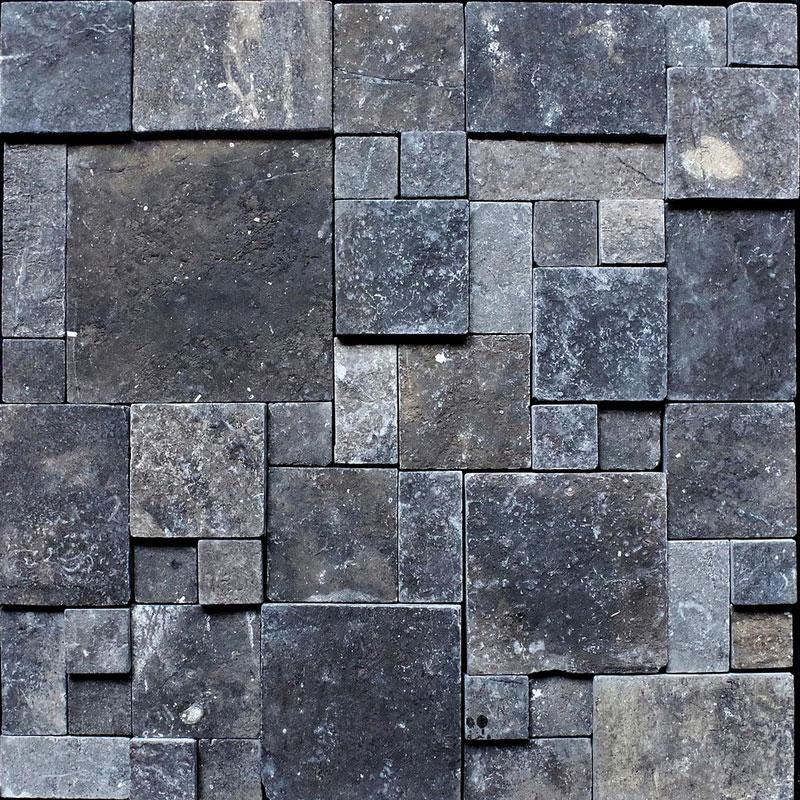 壁材 パネル化粧材 マラケシュラビリンス グレー 11枚入 M-33 300x300x10-20 大理石 凸凹 DIY マテリアルワールド 代引不可