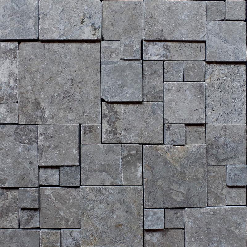 壁材 パネル化粧材 マラケシュラビリンス ライトグレー 11枚入 M-34 300x300x10-20 大理石 凸凹 DIY マテリアルワールド 代引不可