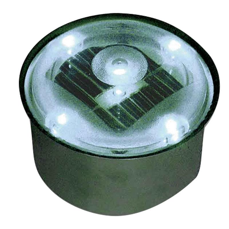 埋込式 LED ライト ソーラーブリック 丸形 ホワイト 直径80 SBH80R 太陽光LED エクステリア 足元 点灯 マテリアルワールド 代引不可