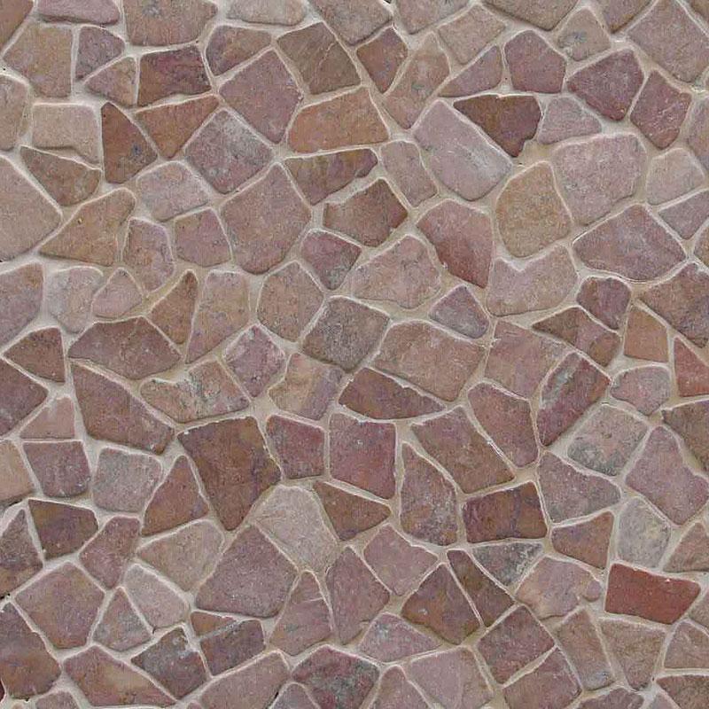乱形石パネル 床 壁 トスカーナウェイ タンブル ピンク 11枚入 M-30 300x300x8-9mm 建材 DIY リフォーム マテリアルワールド 代引不可
