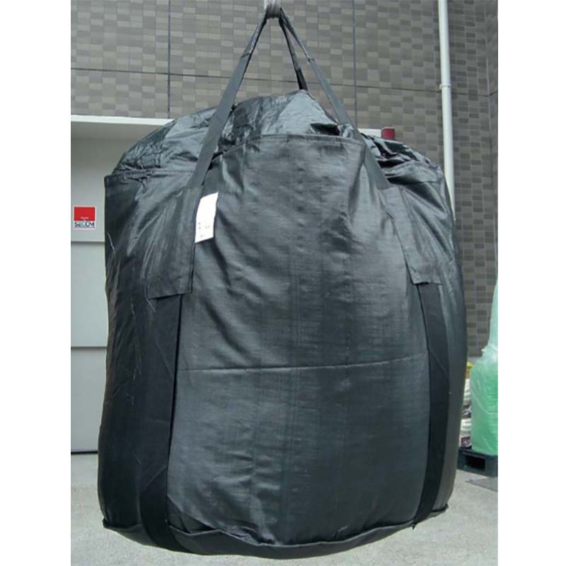 【代引不可】【10枚入】 耐候性コンテナバッグ 土嚢 土のう スーパーブラックバッグ SUPER-002 熱田資材
