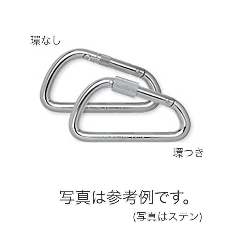 カラビナ 10個入 KB10K-S 変D型 ステン 環つき 連結金具 強度に優れています レスキュー 産業用 登山 ツリークライミング 123 伊藤製作所 アミD