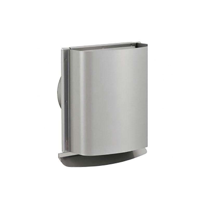 12個 換気口 自然給排気口用部品 外壁換気口 防火ダンパー付 WC型フード付きガラリ 防虫網付 メタリックグレー UK-WCEN150SFD-MG 宇佐美工業 アミD