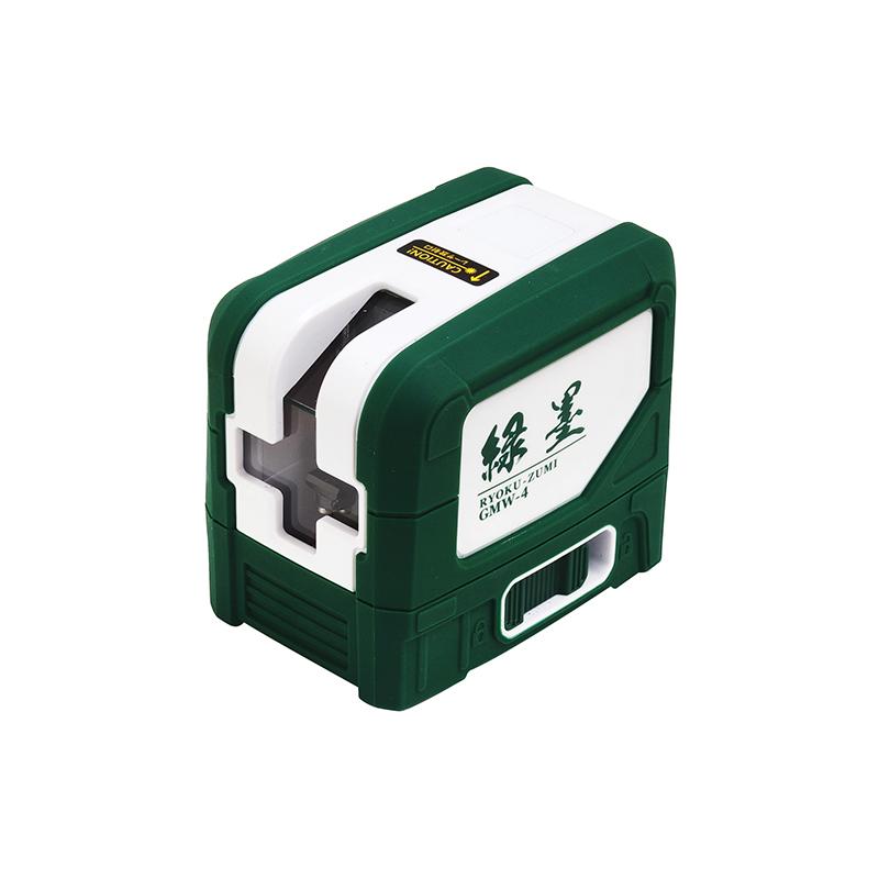 緑レーザーでラインが見やすい 墨出機 グリーンレーザー 緑墨 GMW-4 墨出し器 新潟精機 カSD 輸入 返品交換不可 約92×65×80mm