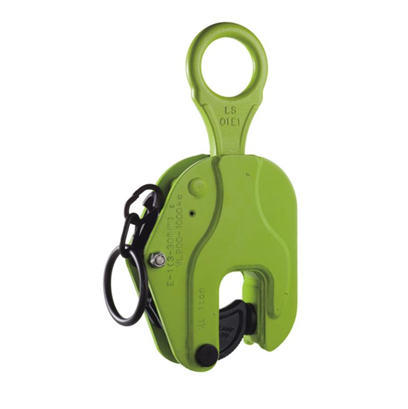 【代引不可】イーグルクランプ 鋼板縦つり用クランプ E型 ラッチ式ロック装置付 073EGES1使用荷重最小~最大 20~100kg 有効板厚 1~10mm コT